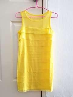 🚚 Yellow Sleeveless Dress Small