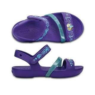 CROCS LINA FROZEN SANDAL KIDS ULTRA VIOLET SALE!