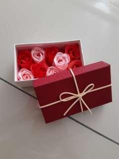 Rose soap box - 9pcs #TRU50