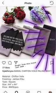 Black tudung
