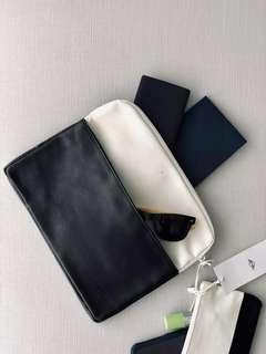 Mini Tablet Cover & Small Pouch White/Black