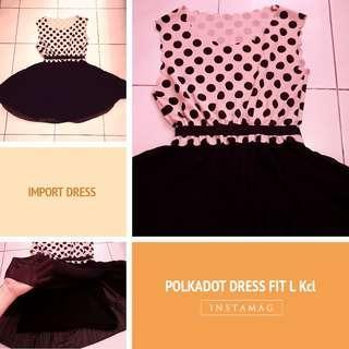 IMPORT...POLKADOT DRESS FITL kcl