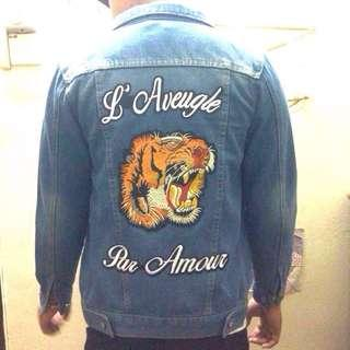 Unisex Gucci Tiger Denim Jacket  #CNY888