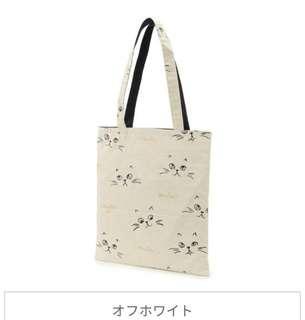 萌貓小店 日本直送- 日本製貓手挽袋 キャンバス猫がま口ポーチ