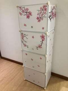 Sakura Themed Shoe Cabinet/dividers shelf
