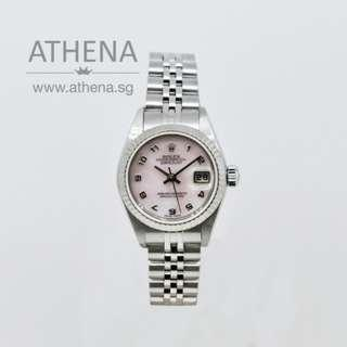 """ROLEX LADIES DATEJUST """"P"""" SERIES """"PINK MOP ARABIC NUMERAL DIAL"""" WITH CERT 79174 PPWRL_201"""