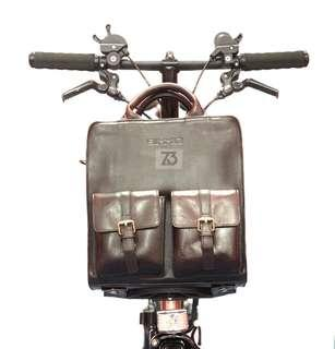🚚 Leather Brompton Bag