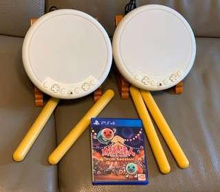 PS4 太鼓之達人 Game 連原裝 HORI 雙鼓