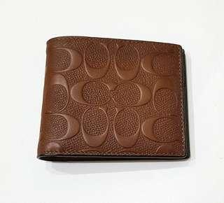 NEW: COACH Men's Leather Wallet
