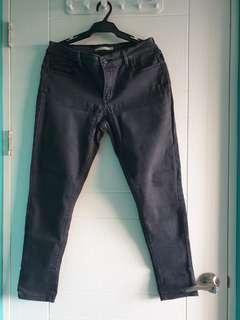 Levi's 710 super skinny black jeans