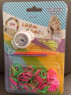 DIY Loom Bands with Watch - White