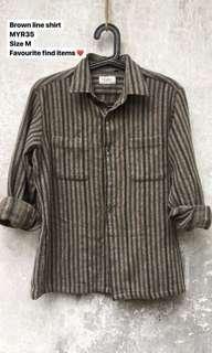 Vintage brown line shirt
