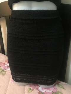 Forever 21 black lace skirt