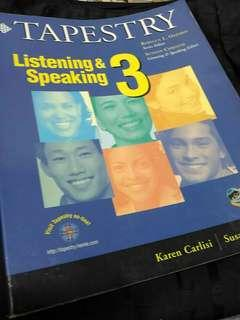 🚚 Tapestry listening & speaking 3 #我要賣課本