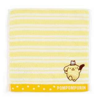 Japan Sanrio Pompompurin Petit Towel (Border)