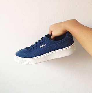 Puma platform sneakers - Blue Suede