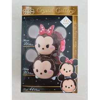 HANAYAMA 3D Puzzle Crystal Gallery Mickey and Minnie Mouse 41 pieces