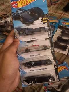 Hot Wheels Batmobile Lot of 4 Batman