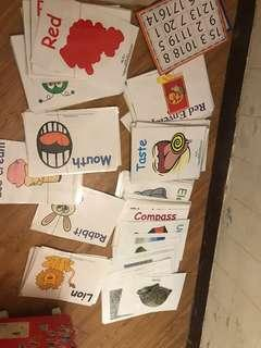 兒童flash card 英文st. Cart. , 數學、全部已經過膠分好,topic!適合0-6歳
