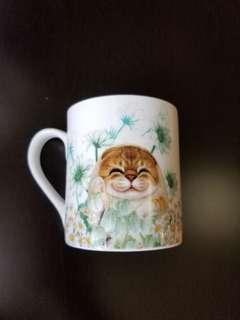 可愛小貓陶瓷水杯