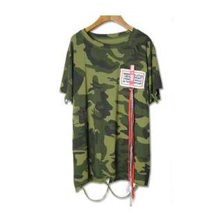 日本top 迷彩風破爛貼布 朋克 Japanese top camouflage wind rag patch punk