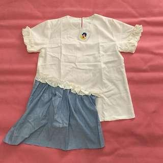 whiteblue top