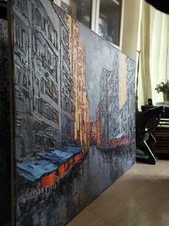 'Quiet Streets' Oil on Canvas Painting