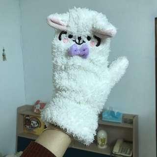 綿羊毛茸茸手套