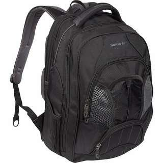 Samsonite Large Backpack Tectonic charcoal computer travel essentials back support  gray black  LIKE NEW 10 year warranty fits up to 17''