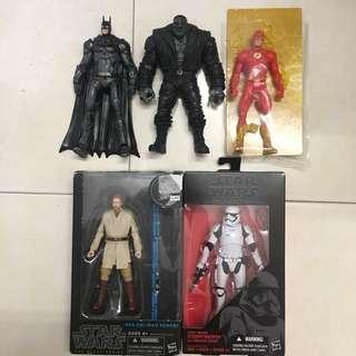 RM110 FOR ALL SET LOT Dcuc dc universe flash batman marvel legends toybiz black series star wars figure (shf scale)