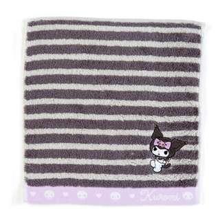 Japan Sanrio Kuromi Petit Towel (Border)