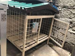 (Negotiable) Used Metal Dog Cage