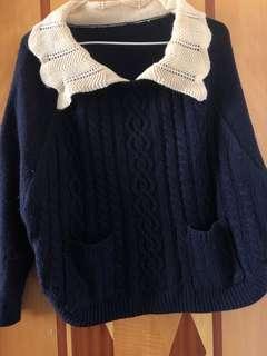 深藍色冷衫