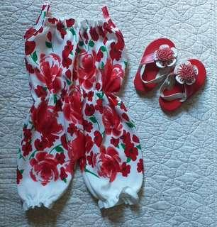 Take Both Baby Jumpsuit & Slippers
