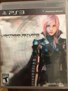 PS3 Game games lightning returns final fantasy XIII 13