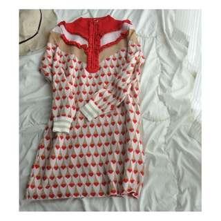 返工衫 連身裙 女神  氣質連衣裙 針織