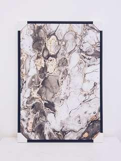 #black marble 1 - Art Print Painting (Framed)