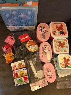 🈹清貨 迪士尼 Disney the bear's school 學校熊 Sanrio hello kitty thermos tomica Tokyo Disneyland $300全圖