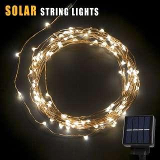2608. SOLAR led string light cool white 60led