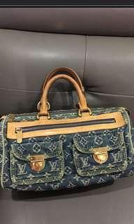 💯 % authentic Louis Vuitton denim neo speedy bag