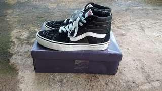 Vans sk8 hi black and white original murah