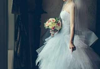 MIA SOLANO White Wedding Gown Dress