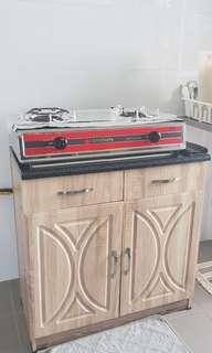 Table Top City Gas 2 Buner with 2 door cabinet
