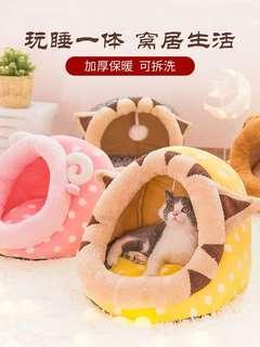 🚚 猫窝猫屋冬季保暖四季通用網紅猫咪墊子貓窩可拆洗小窩冬天寵物用品