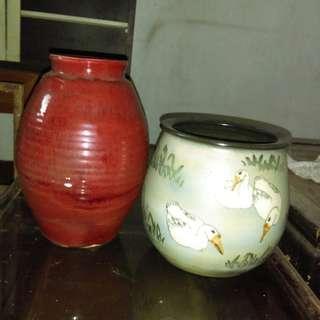 手工陶土缶瓶