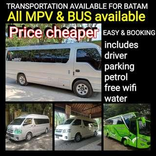 TRANSPORTATION Available for BATAM(http://www.wasap.my/+6281365032800