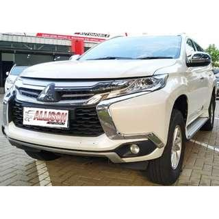 Mitsubishi All New Pajero Sport Exceed Diesel AT 2016 White  DP 35,9 Jt, KM 28 Rb, No Pol Ganji