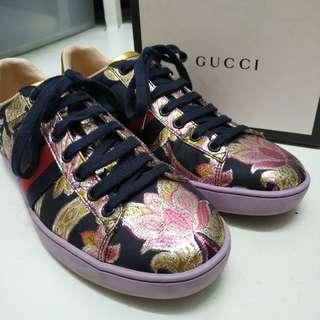 Gucci Ace Jacquard floral shoes / sneakers