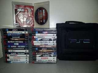 PS3 Games 31 Pieces with FREE PS2 SLIM Bag
