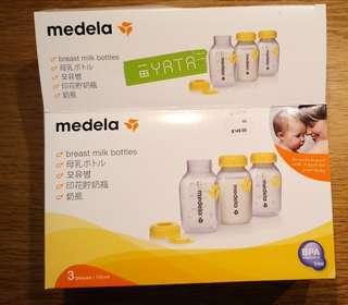 Medela 母乳瓶1套-3個